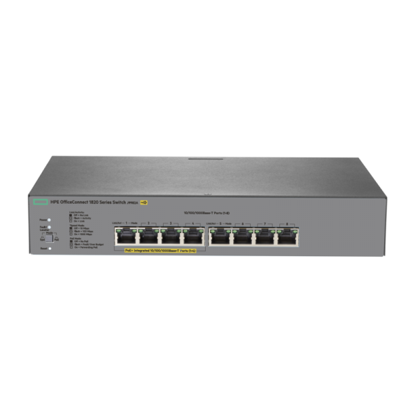 Switch Hpe OfficeConnect 1820 8 Puertos Gigabit Poe+ Administrable (J9982A)